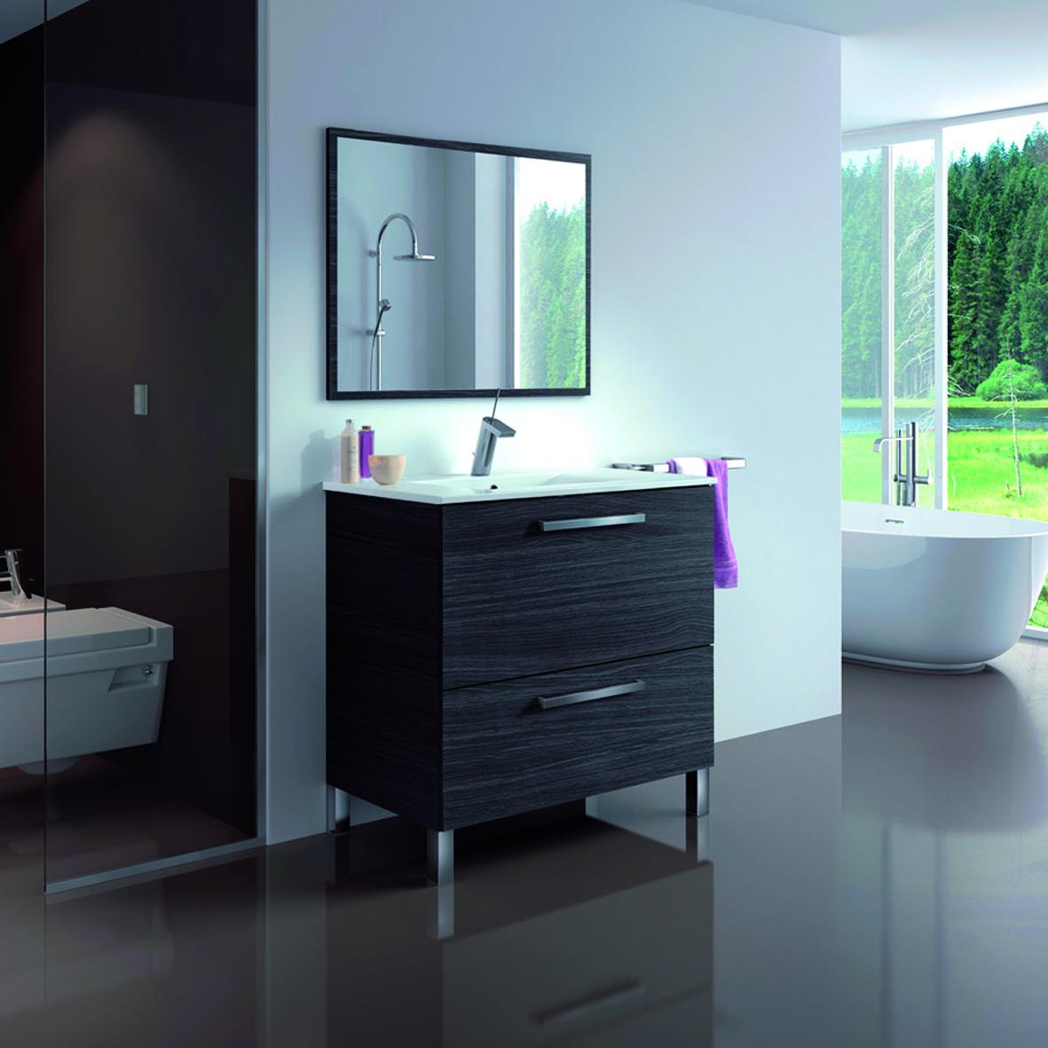 Meuble salle de bain urbain-